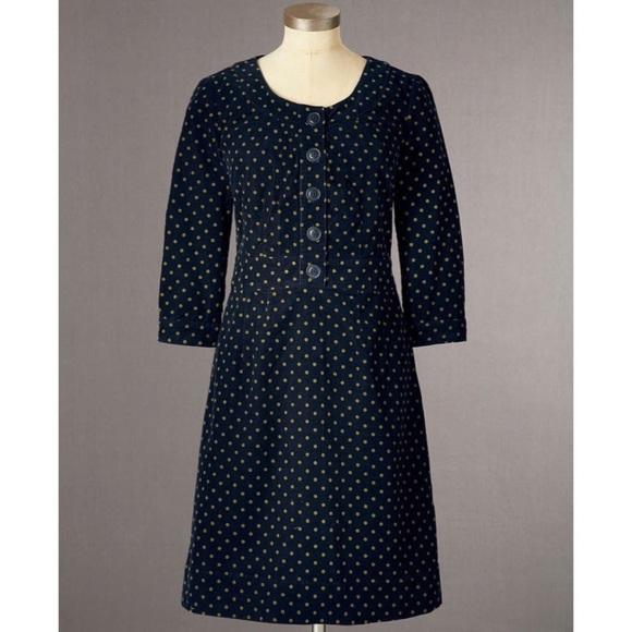6a6f8a74a7a Boden Dresses   Skirts - Boden Polka Dot Corduroy Dress
